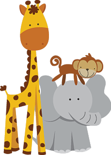 animals giraffe elephant monkey